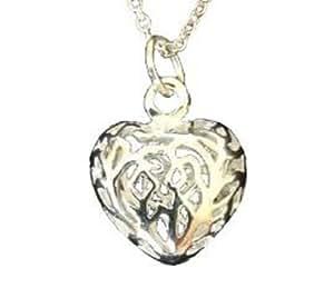 Lot de Trois En filigrane Open Heart Pendant Qualité fine Bijoux Argent Femme Ensemble de boucles d'oreilles et le collier,bracelet,Geschenk-Box inklusive!