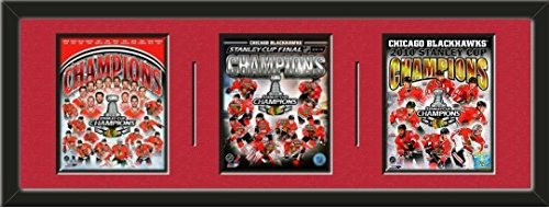 Chicago Blackhawks 2015, 2013, 2010 Stanley Cup Champions Team Photos Framed Collage