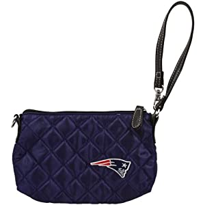 New England Patriots Quilted Wristlet, Navy by Pro-FAN-ity Littlearth