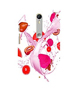 printtech Fruits Splash Back Case Cover for Motorola Moto X Style