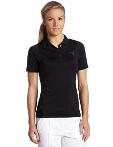 Puma Women's Golf Duo Swing Mesh Polo, Black, X-Small