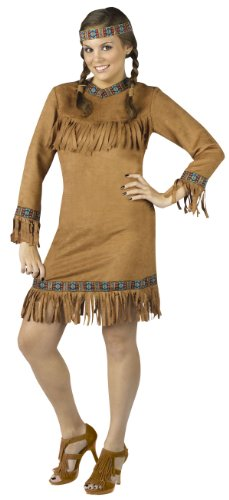 Plus Size Female Native American Indian Costume - Womens 16-24