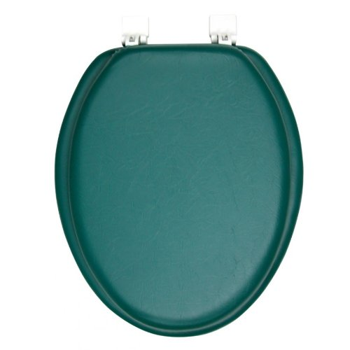 Ginsey Solid Hunter Green Padded Elongated Toilet Seat