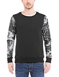Shuffle Men's Poly Cotton Sweatshirt (8907423024311_2021518602_X-Large_Black)