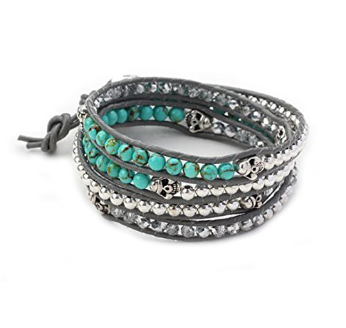 treasurebay-fab-wrap-bracelet-made-from-4mm-turquoise-gemstone-sparkly-crystal-and-silver-metal-bead