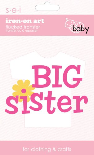 SEI 3.35-Inch by 5-Inch Big Sister Iron on Transfer, 1 Sheet (Iron Sister compare prices)