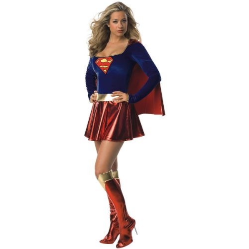 Deluxe Supergirl Adult Costume - Small