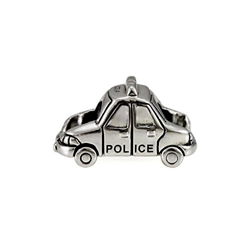 Ohm Beads Sterling Silver Police Car Bead Charm