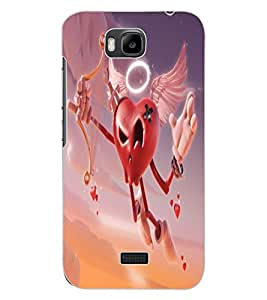ColourCraft Love Heart Design Back Case Cover for HUAWEI HONOR BEE