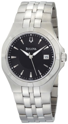 Bulova Men's 96B123 Black Dial Bracelet Watch