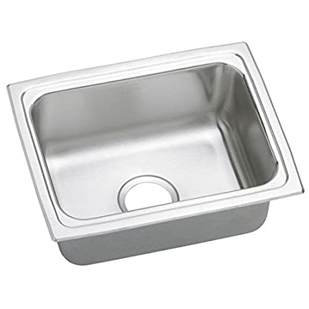Elkao|#Elkay LFR1915 18 Gauge Stainless Steel 19 Inch x 15 Inch x 7.625 Inch single Bowl Top Mount Kitchen Sink,