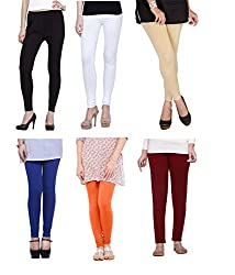Shiva collections B/W/S/RB/O/M cotton legging ( SET OF 6)