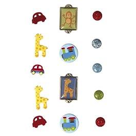 RAYHER - 7924200 - tachuelas chico, SB-tarjeta, 14 pcs, varios diseños