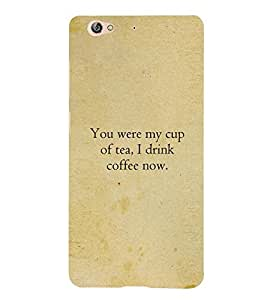 Fuson Premium My Cup Of Tea Printed Hard Plastic Back Case Cover for Gionee S6