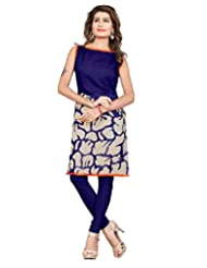 Bhagalpuri Purple Colour Dazzling Floral Print Women's Tunic/Kurtas/Kurtis 1013