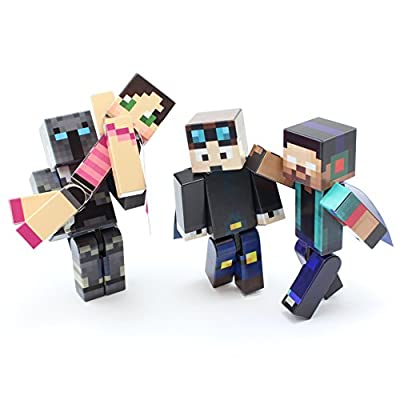 4 Toy Bundle (Herobrine Bundle) by EnderToys - A Plastic Toys (Not an official Minecraft Product) by Seus Corp Ltd.