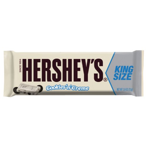 HERSHEY'S Cookies 'n' Crème Candy Bar (King Size, 2.6-Ounce, Pack of 18) (Hershey Cookies N Cream compare prices)