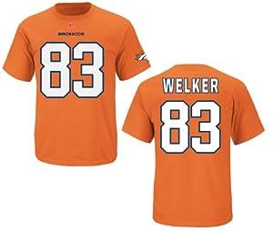 Denver Broncos Wes Welker Eligible Receiver Orange Name and Number T-Shirt by VF