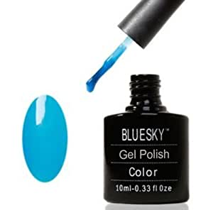 Shellac Nails by Bluesky Neon Blue Shellac Gel 10ml