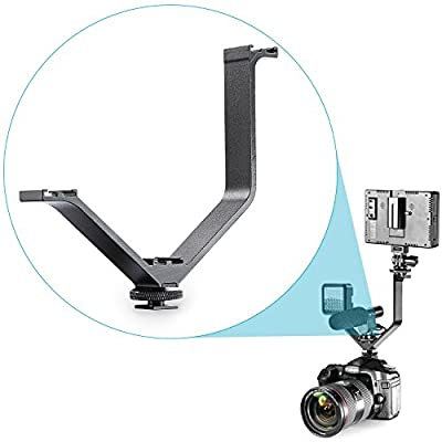 "Neewer® Aluminium Alloy 6.5""/16.4cm V-shape Triple 3 Universal Cold Shoe Mount Bracket for Nikon Canon Sony DSLR Camera or Camcorder Accessory Such as LED Video Light,Microphone,Monitor,Flash"