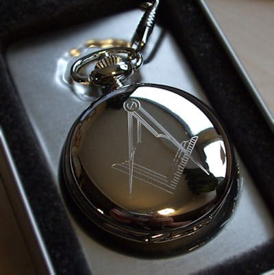 Personalised Masonic Pocket Watch Silver Plated (Engraved Free)