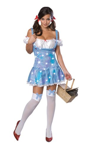 Secret Wishes Wizard of Oz Sexy Dorothy Costume, Blue, Large
