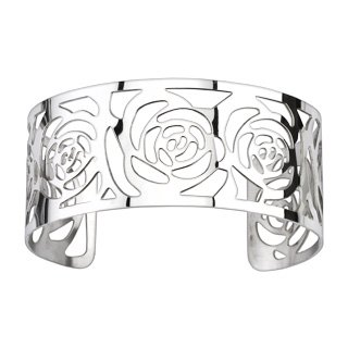 Rose Pattern Cuff Bangle Bracelet