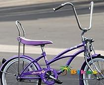 "J Bikes by Micargi Hero 20"" Girls Kids Low Rider Beach Cruiser Bicycle Purple"
