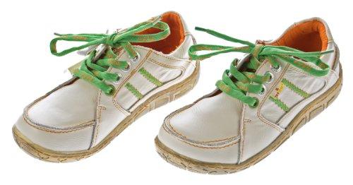 Leder Damen Halb Schuhe Comfort Sneakers Used Look Weiß TMA Eyes Gr. 36