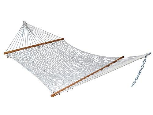 Extra Wide Big Heavy White Cotton Mesh Net Travel Garden Hammock Swing 440 Lbs front-766618