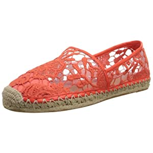 Rebecca Minkoff Women's Genny Espadrille Flat,Hot Red,9 US/9 M US