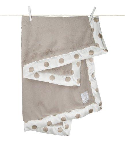 Little Giraffe New Dot Luxe Blanket - Flax