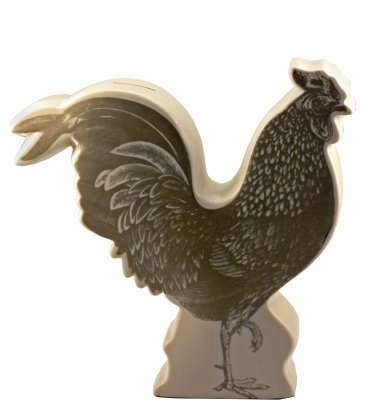 Pictorial Rooster Coin Bank