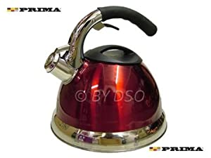 Prima 3.5L Stainless Steel Whistling Kettle Red 11129C from Prima
