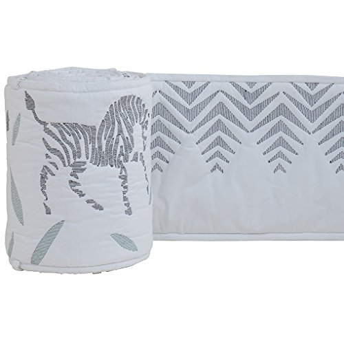 DwellStudio Zebra Quilted Reversible Crib Bumper (Crib Bumper Zebra compare prices)