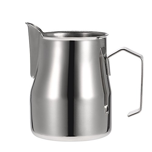 Anself Stainless Steel Professional Milk Frothing Pitcher Milk Foam Container Espresso Measuring Cups