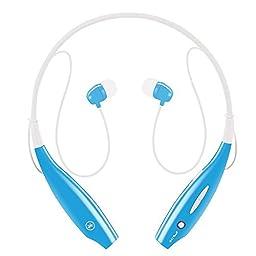 Sport Wireless Bluetooth Headphones, Upgrade Sweatproof Neckband Stereo Earphones  Earbuds-Blue