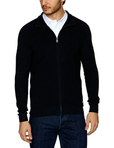 Henri Lloyd Chine Regular Full Zip Knit Men's Jumper Navy XX-Large