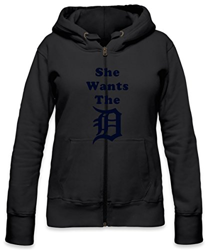She Wants The D Womens Zipper Hoodie Small