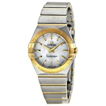Omega Constellation Mother of Pearl Stainless Steel and 18kt Rose Gold Ladies Watch 12320276005002