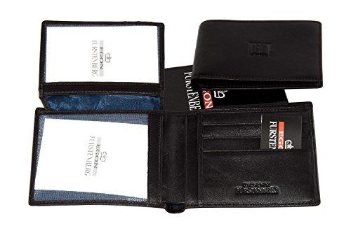 Portafoglio uomo EGON FURSTENBERG moro in pelle porta carte di credito A4321