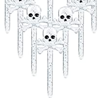 Skull and Crossbone Halloween Cupcake Party Picks from Coolglow