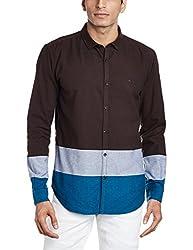 Basics Men's Casual Shirt (8907554110747_16BSH34078_Large_Brown)