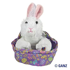 Webkinz Easter White Rabbit in Easter Basket Special Edition