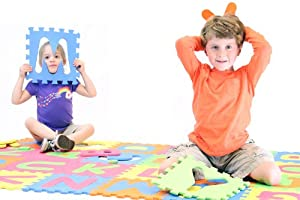 Alphabet ABC Floor Play Mat (Puzzle Tile Mat) - ages 2+