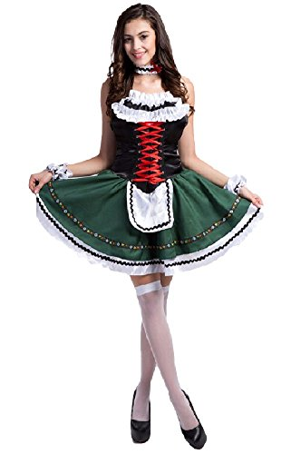 [SPJ: Women's Alice Style Wonderland Cosplay Anime Maid Costumes Lolita Girls Dress (L)] (Nurse Costumes For Teens)