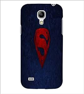 PrintDhaba Superman Logo D-2334 Back Case Cover for SAMSUNG GALAXY S4 MINI (Multi-Coloured)