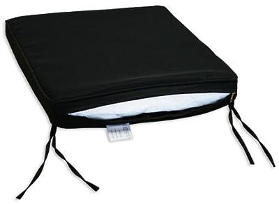 KMH®, Schönes schwarzes Sitzkissen mit Befestigungskordeln (#106083) von KMH mbH bei Gartenmöbel von Du und Dein Garten