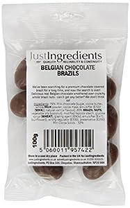 JustIngredients Belgian Chocolate Brazils 100g (Pack of 6)