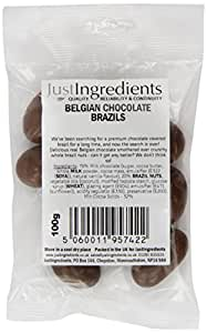 JustIngredients Belgian Chocolate Brazils 100g (Pack of 6)